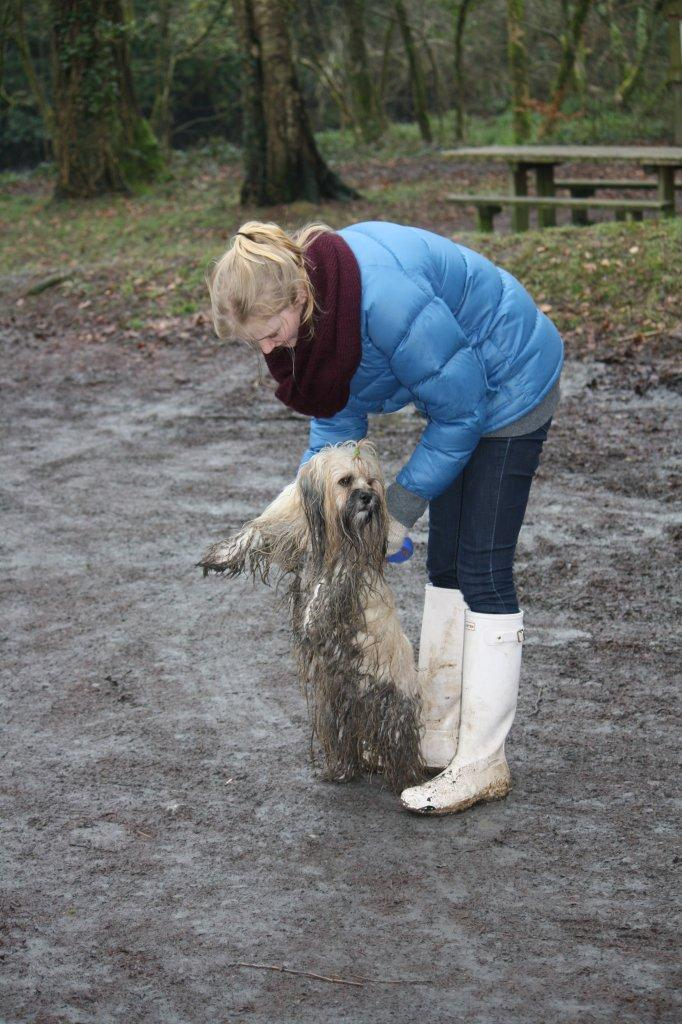 Otto in mud