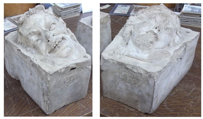 Original Coade Stone Heads