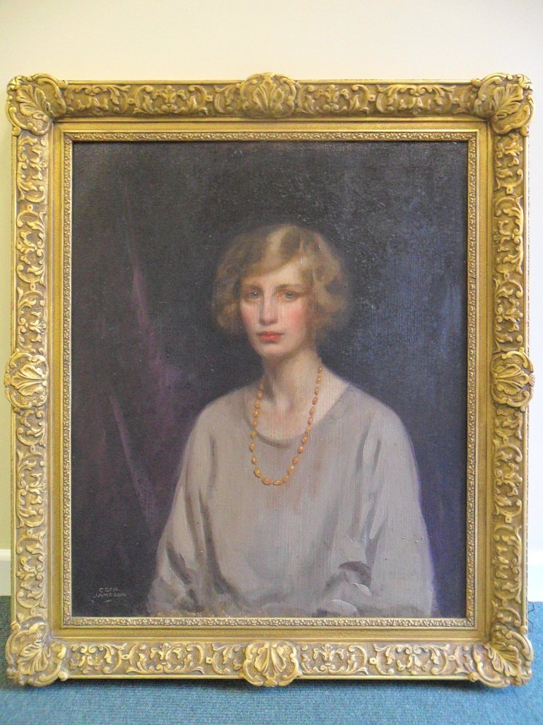 The portrait of Elizabeth Inglis Jones by Cecil Jameson