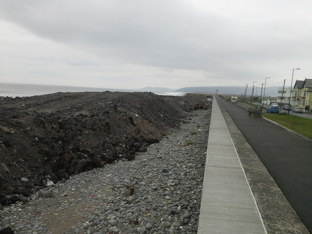 Clay and peat dug out from the lower shore at Borth.