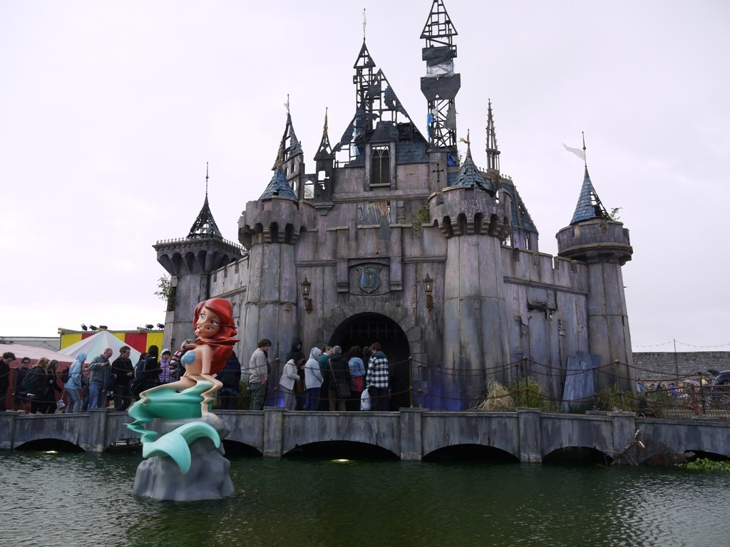 Cinderella's castle, and a strangely squiffy Little Mermaid