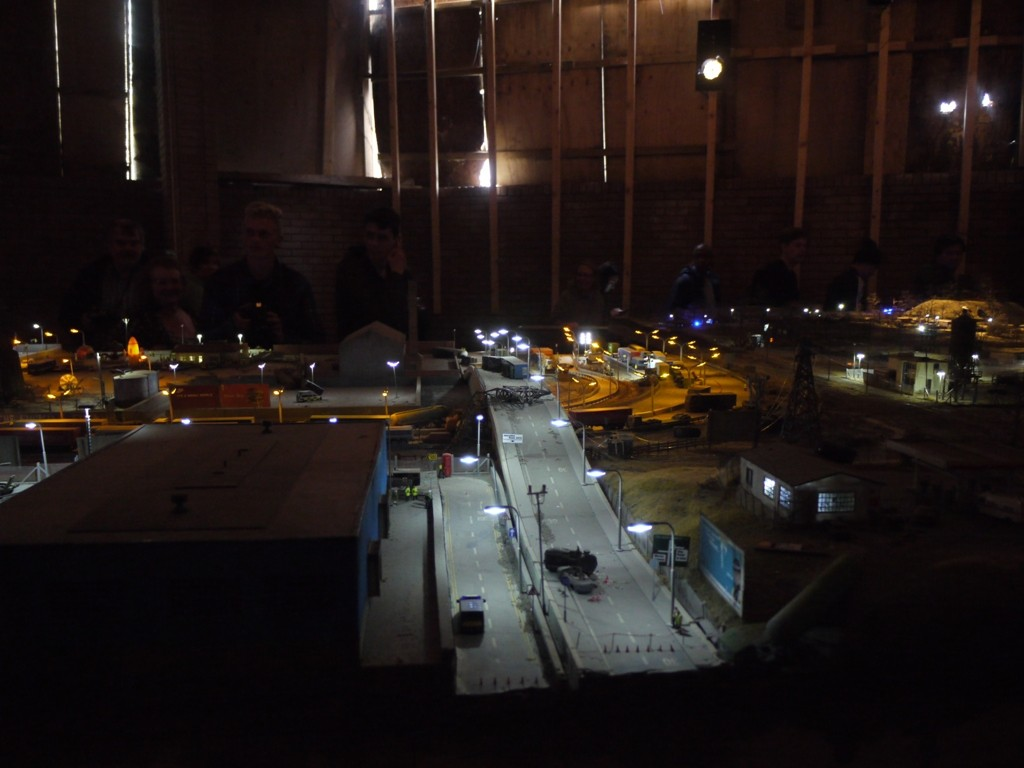 Part of Jimmy Cauty's dystopian cityscape
