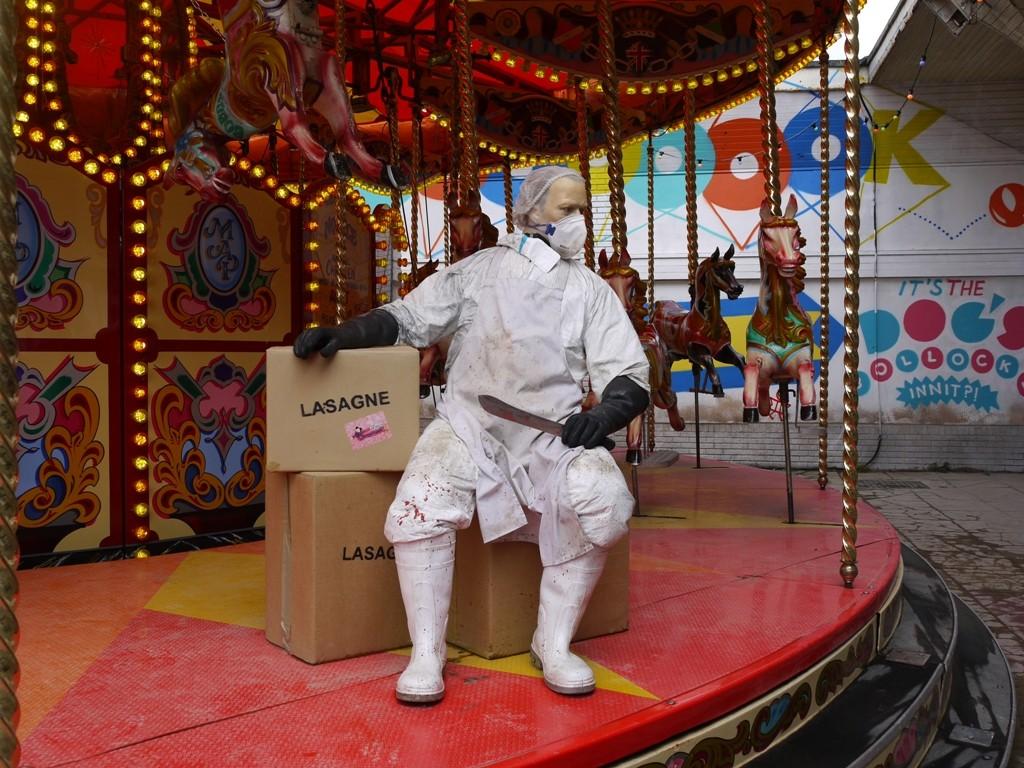 Carousel at Dismaland 2