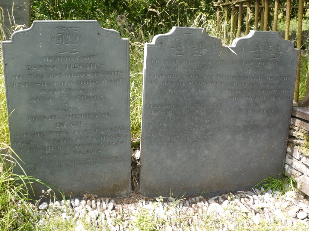 Graves of Isaac Hughes and his six children