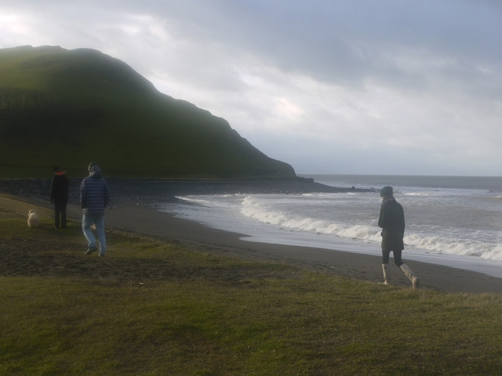 Tanybwlch beach on Christmas day
