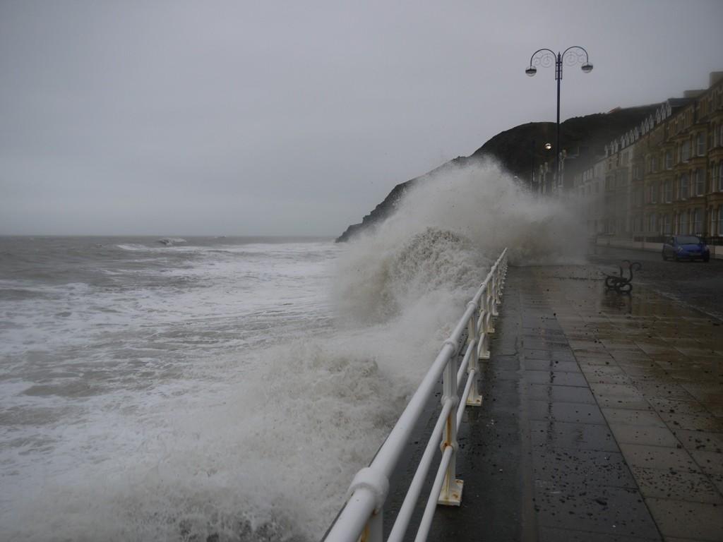 The Aberytswyth seafront on 30 December 2015