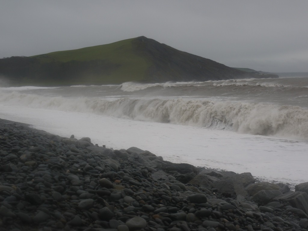 Tanybwlch beach pounded by Storm Frank