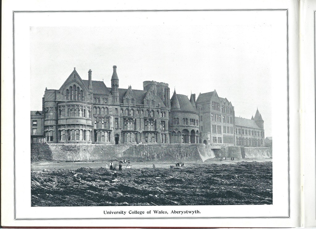 Old College in early 20th century.  Cambrian News Album 60 Photographs of Aberystwyth