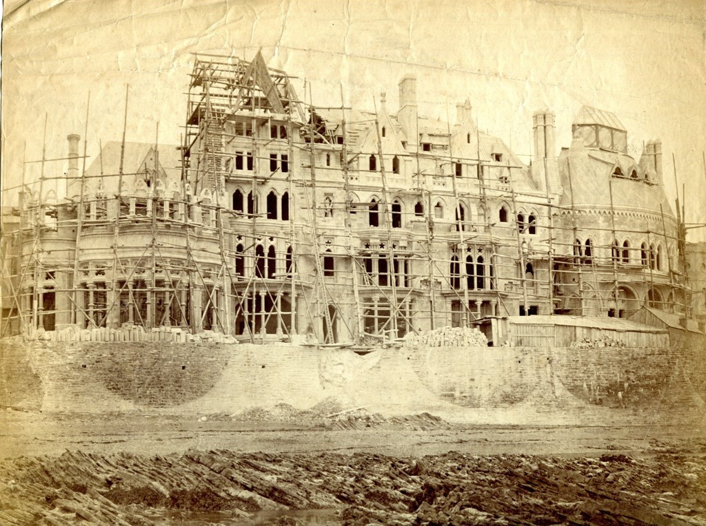 Old College under construction.  Copyright  William Michael Clarke