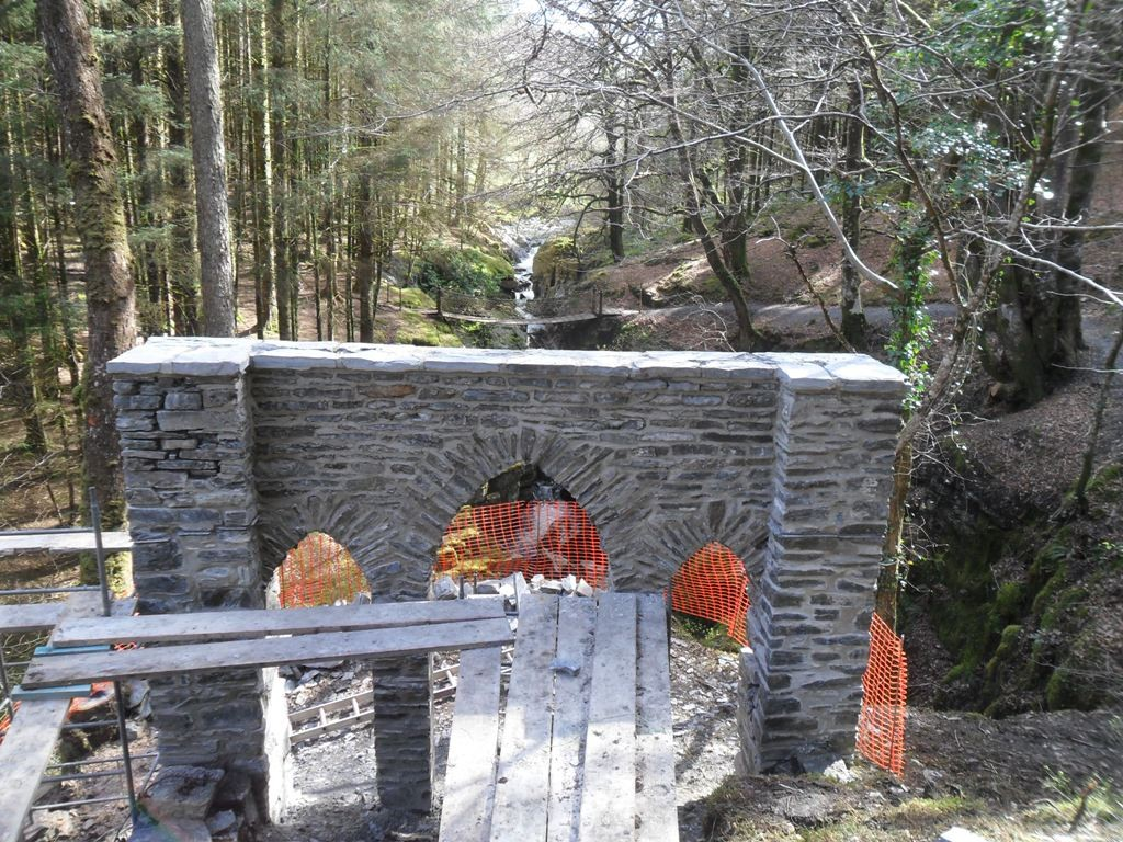 The Gothic arcade, Hafod, almost complete