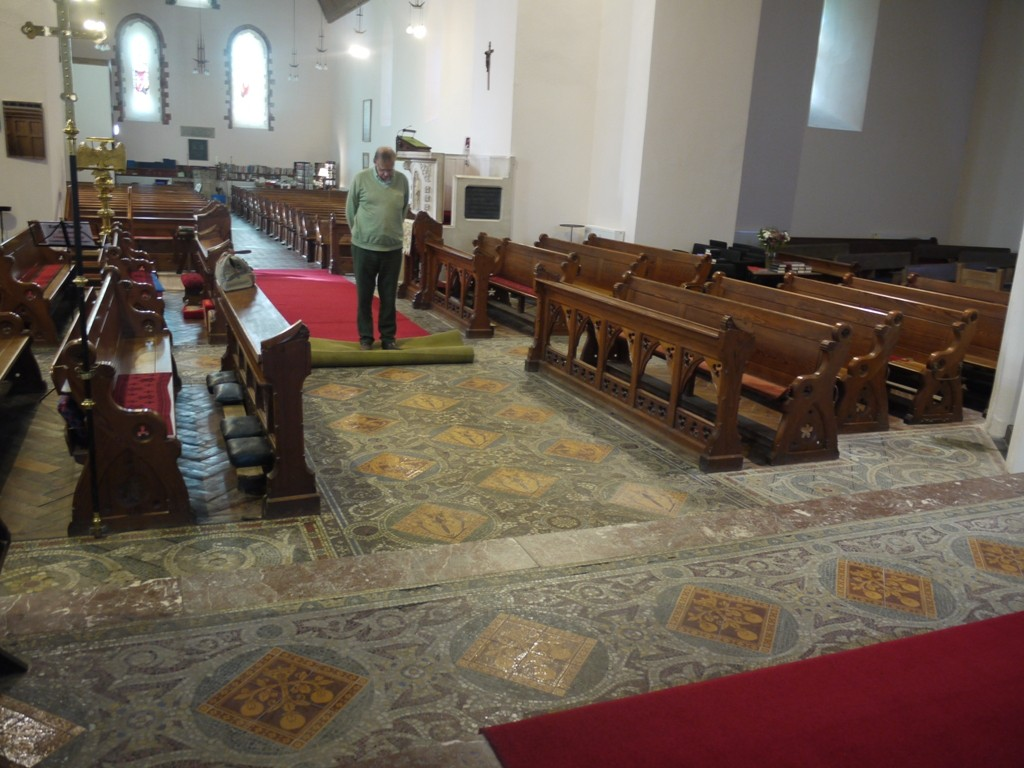 Mosaic floor by Jesse Rust, St Padarn's Church, Llanbadarn